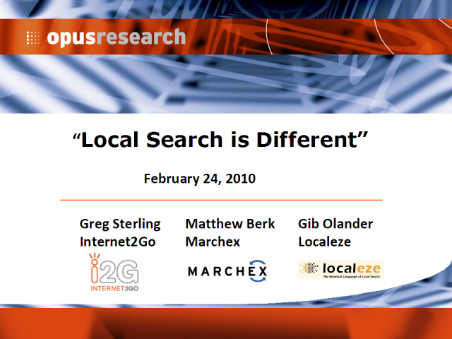 Local Search Is Different