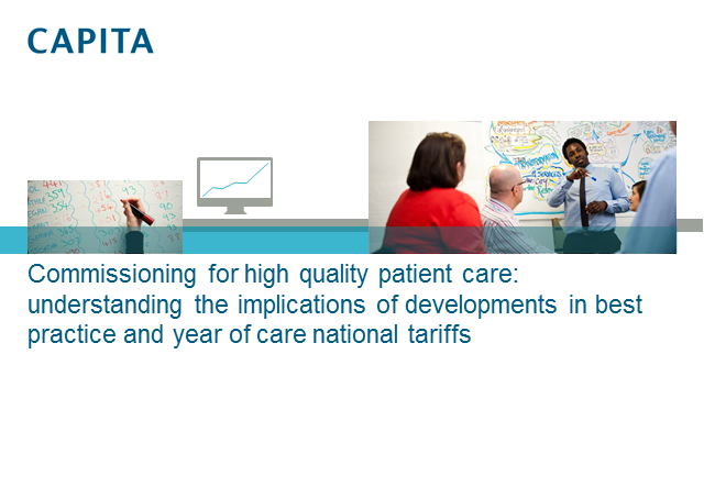 Commissioning for high quality patient care