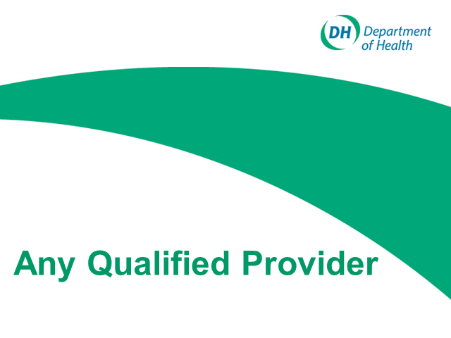 Community Services - Using Any Qualified Provider as a commissioning tool
