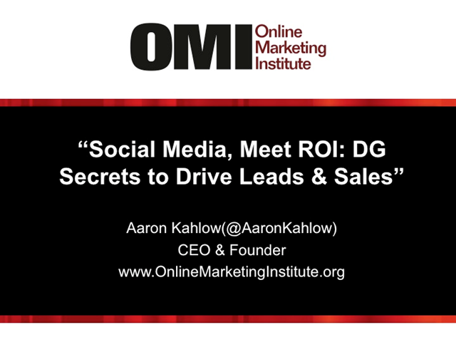 Social Media, Meet ROI: Demand Gen Secrets to Driving Leads, Lift and Sales