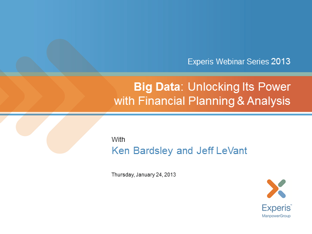 Big Data:  Unlocking its Power with Financial Planning and Analysis