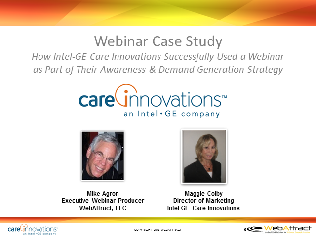 Webinar Case Study with Intel-GE Care Innovations
