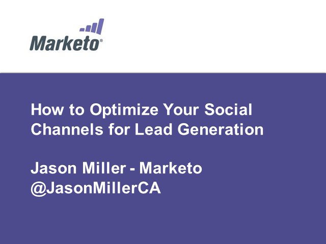 How to Optimize Your Social Channels for Lead Generation