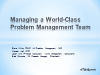 Managing a World-Class Problem Management Team