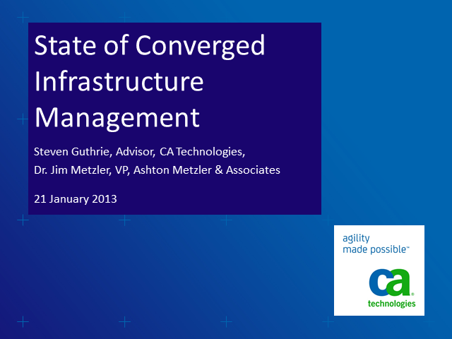 Trends in Converged Infrastructure Management