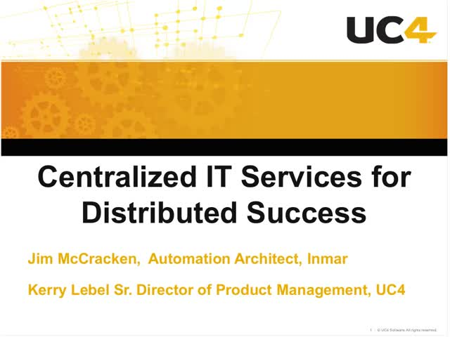 Centralized IT Services for Distributed Success