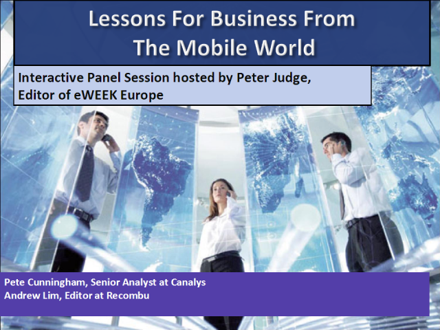 Lessons For Business From The Mobile World