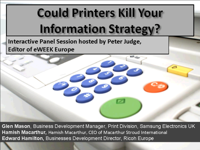 Could Printers Kill Your Information Strategy?