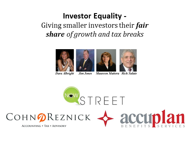 Investor Equality: Giving Investors Their Fair Share of Growth & Tax Breaks