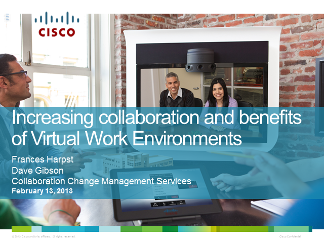 Increasing Collaboration and Benefits of Virtual Work Environments