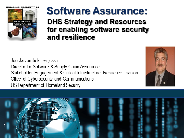 DHS Strategy and Resources Addressing Software Assurance