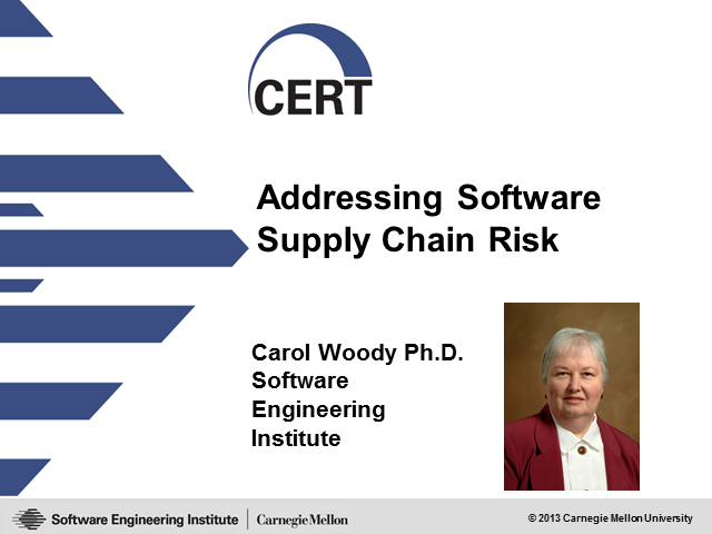 Addressing Software Supply Chain Risk