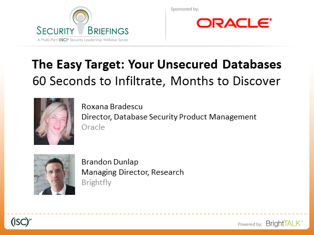 Security Briefings Series - The Easy Target: Your Unsecured Databases