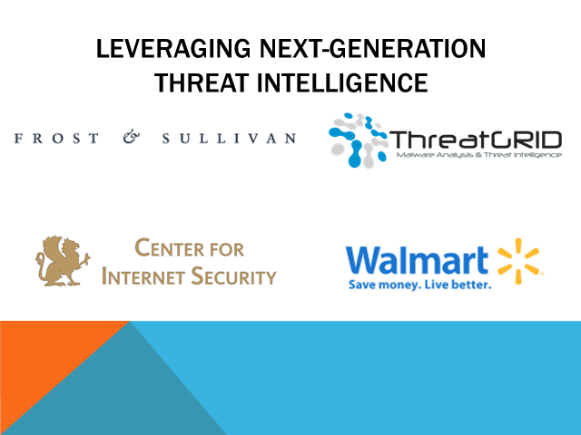 Panel: How to Leverage Next Generation Threat Intelligence