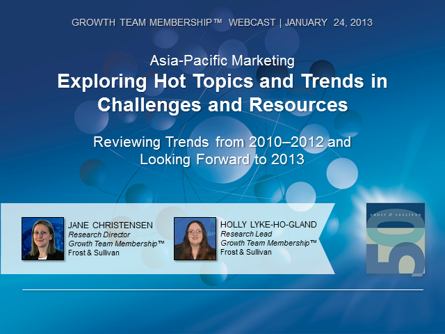Asia-Pacific Marketing—Exploring Hot Topics & Trends in Challenges and Resoures