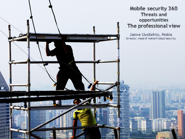 Mobile Security 360 - Threats and Opportunities - The Professional View
