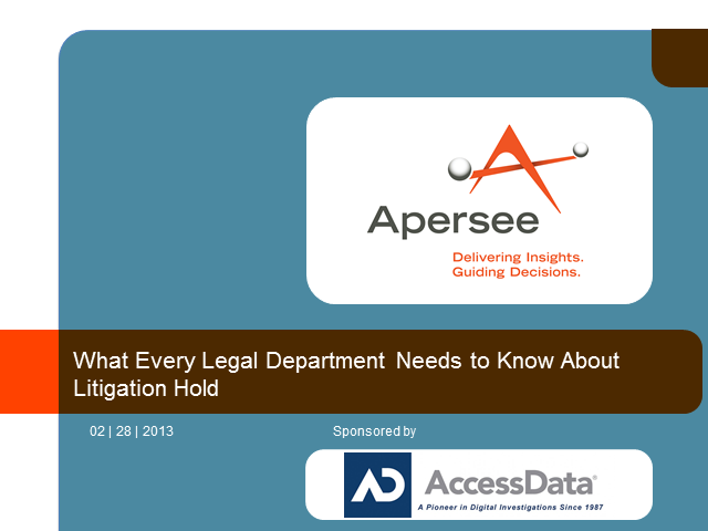 What Every Legal Department Needs to Know About Litigation Hold
