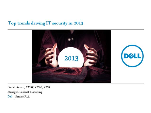Top trends driving IT Security for 2013