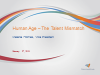 Human Age – The Talent Mismatch