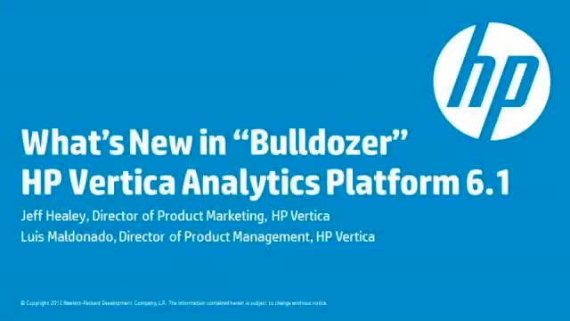 What's New with HP Vertica 6.1