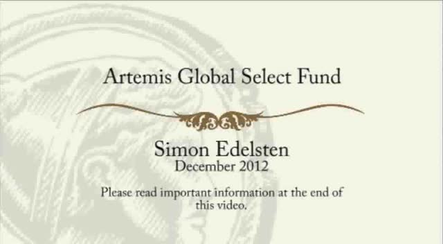 Artemis Global Select - December 2012