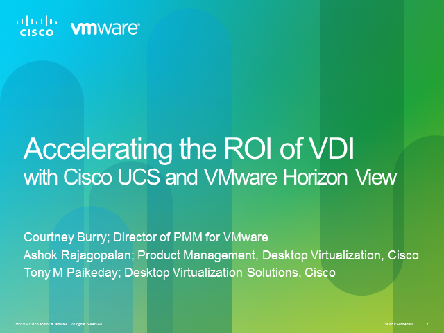 VMware View on UCS