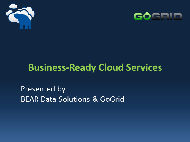 Business-Ready Cloud Services