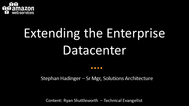 Extending the Enterprise Datacenter