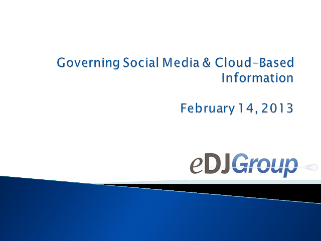 Governing Social Media and Cloud-Based Information