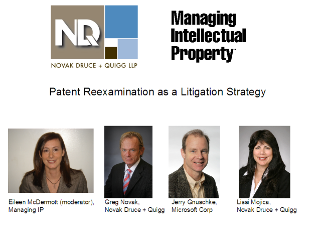 Patent Re-examination as a Litigation Strategy