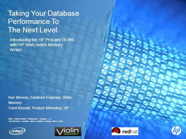 Taking Your Database Performance To The Next Level