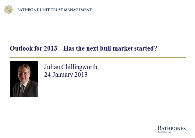 Positive Returns for 2012, where are the opportunities for 2013?