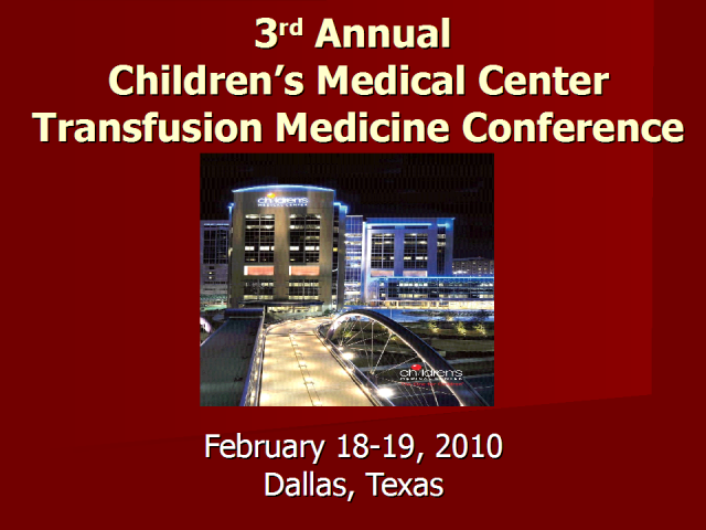 3rd Annual Transfusion Medicine Conference Preview