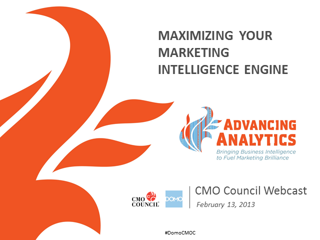 Advancing Analytics: Maximizing Your Marketing Intelligence Engine
