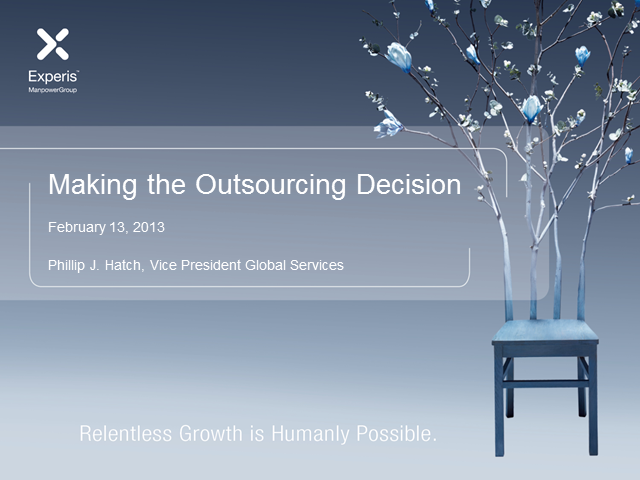 Insourcing vs. Outsourcing-The New Landscape