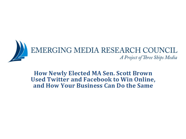 How Senator Scott Brown Used Social Media to Win