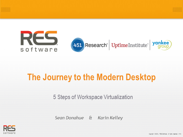 The Journey to the Modern Desktop: 5 Steps of Workspace Virtualization