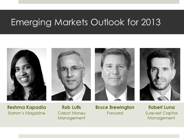 Emerging Markets Outlook for 2013