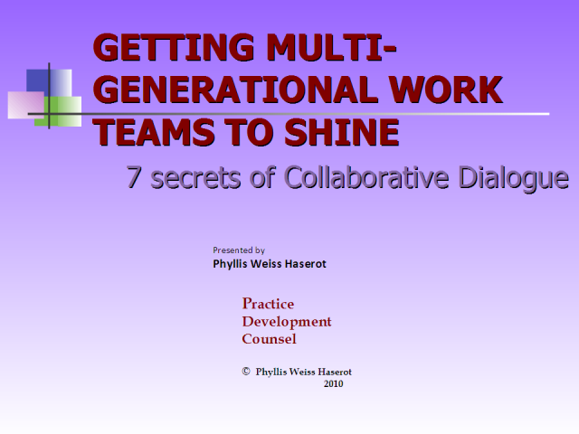 Getting Multi-Generational  Work Teams to Shine