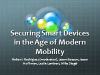 Panel: Securing Smart Devices in the Age of Modern Mobility
