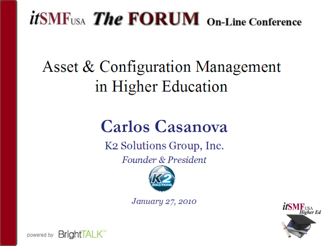 Asset and Configuration Management in Higher Ed