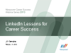 LinkedIn Lessons for Career Success