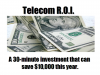 Telecom ROI -Invest 30 minutes today to learn how to save $10,000