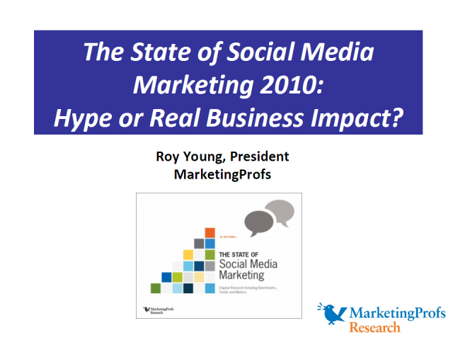 Social Media Marketing 2010: Hype or Real Business Impact?