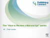 How to Review a Manuscript #01 - Peer Review