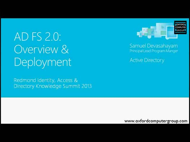 Active Directory Federation Services Overview and Deployment