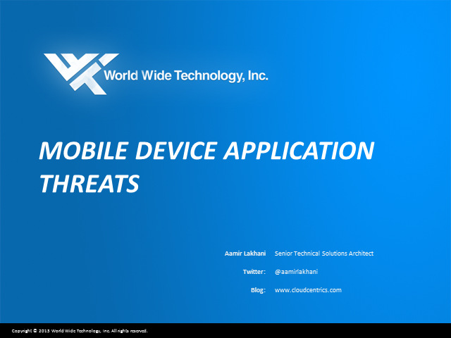 Mobile Device Application Vulnerabilities