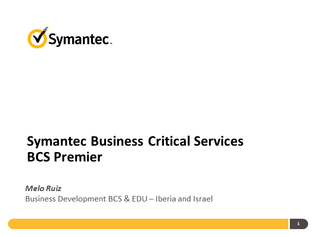 Partner Webcast: Nuestra oferta de Business Critical Services / Soporte