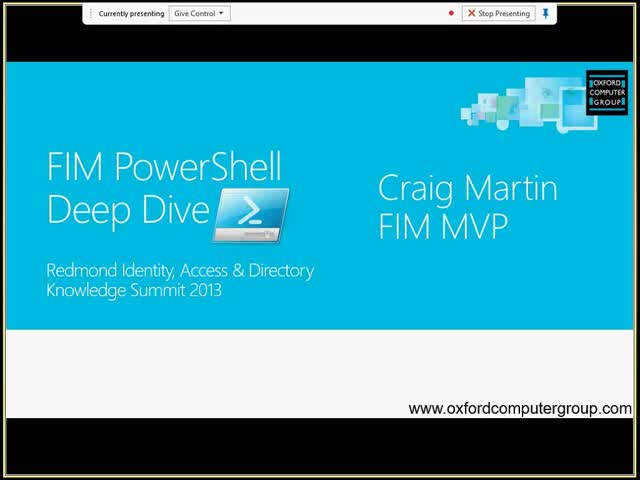 Using PowerShell for FIM Deployment & Test Automation, Operations, Extensibility