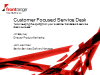 Customer Focused Service Desk